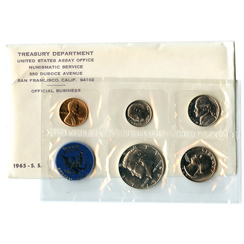 "Original from us mint. The /""PROOF SET/"" for 1965 1965 special mint set"