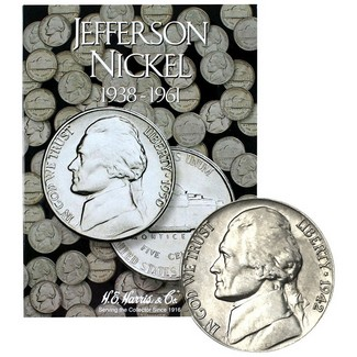 1938 - 1961 Jefferson Nickel Set in Album