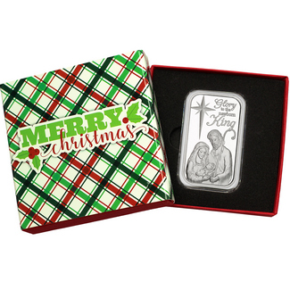 2017 Glory to the Newborn King Nativity 1oz .999 Silver Bar