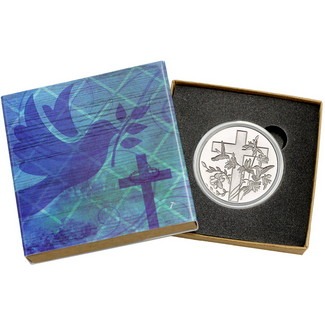 Religious Cross 1 Ounce .999 Silver Round
