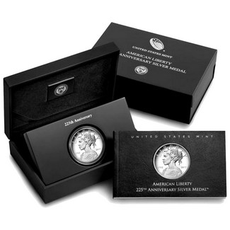 2017 P American Liberty Silver Medal 225th Anniversary OGP