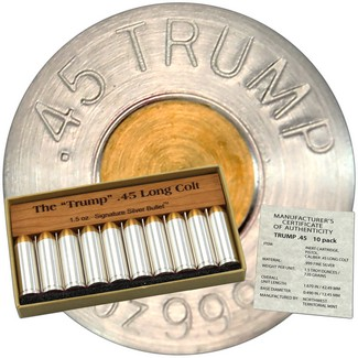 Gold Tipped Trump .45 Colt Signature .999 Silver Bullet (10 Count)