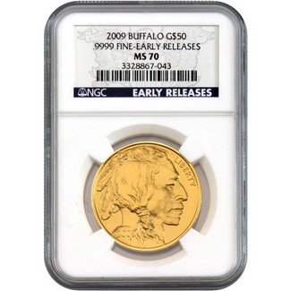 2009 $50 Gold Buffalo NGC MS70 ER