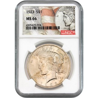 1923 Peace Dollar NGC MS-66