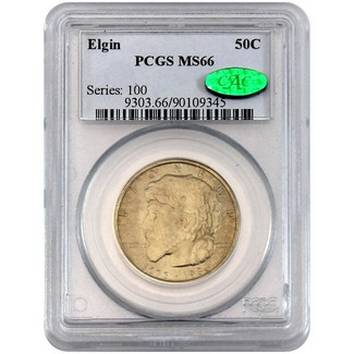 1936 Elgin Commen Half Dollar PCGS MS-66 (CAC)