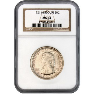 1921 Missouri Commen Half Dollar NGC MS-64