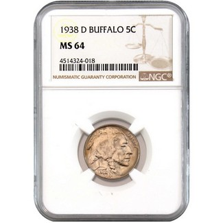 1938-D Buffalo Nickel NGC MS-64
