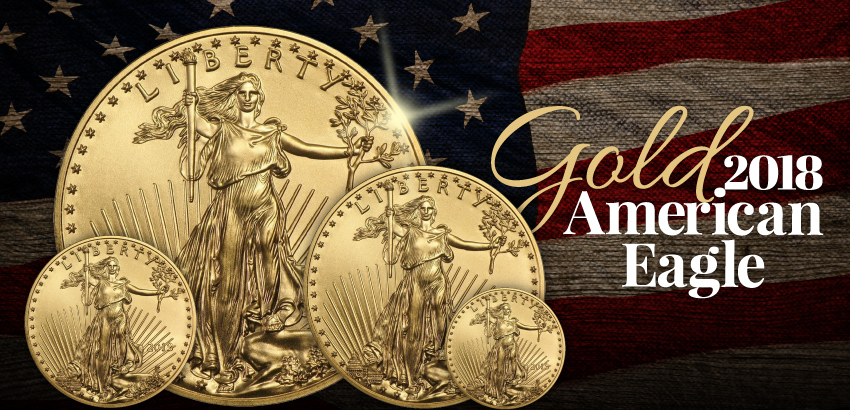 Certified 2018 Gold American Eagle Coins