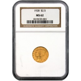 TCV's 2020 Gold Rush: 1928 $2.5 Gold Indian NGC MS-62