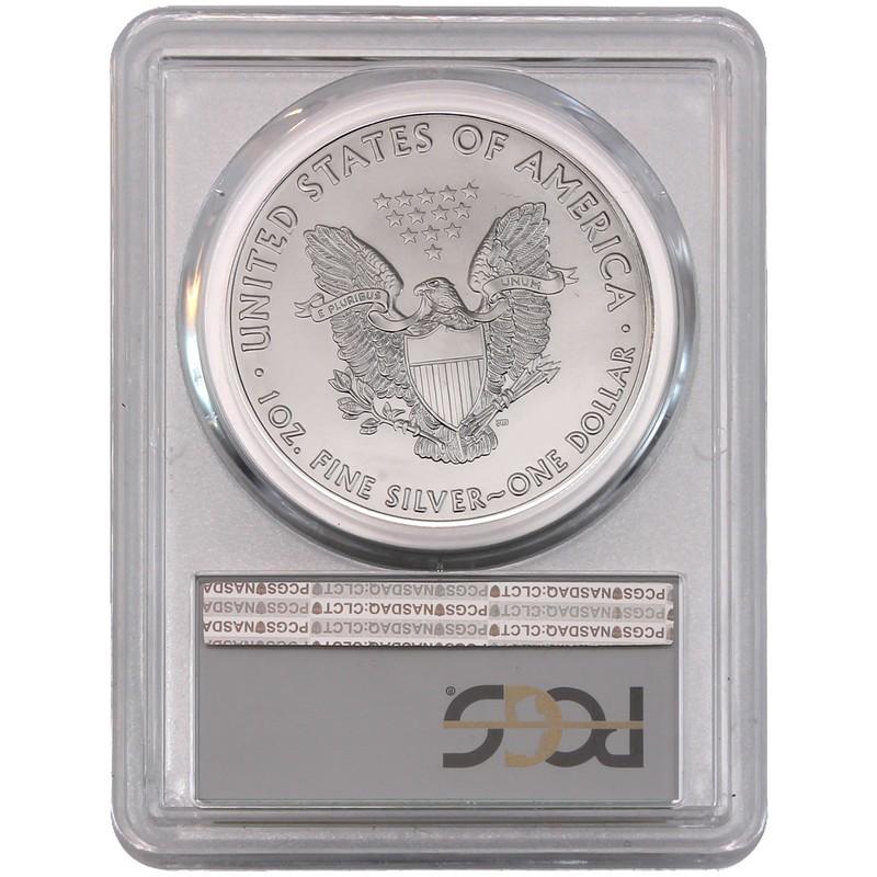 2017-P American Silver Eagle MS69 PCGS Struck At Philadelphia Green Label