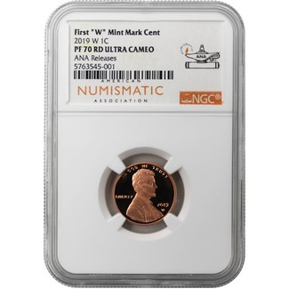 2019 W Lincoln Cent NGC PF70 RD UC from the Clad Proof Set ANA Releases ANA Label