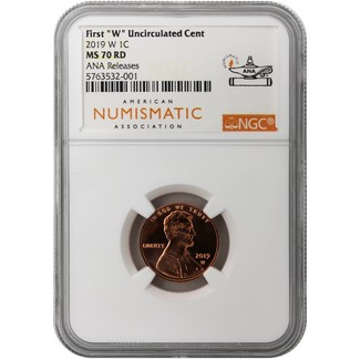 2019 W Lincoln Cent NGC MS70 RD from the UNC Mint Set ANA Releases ANA Label