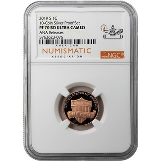 2019 S Lincoln Cent NGC PF70 RD UC ANA Releases from the Silver Proof Set ANA Label