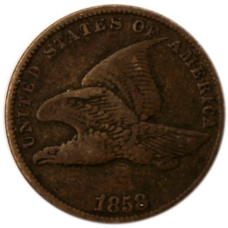1858 Flying Eagle Cent Fine to Better Condition