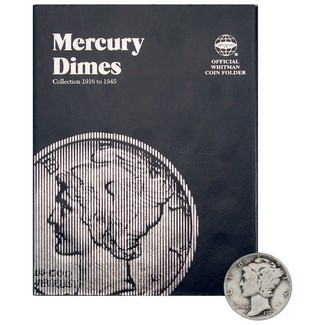 1916-1945 Mercury Dime Set in Tri Fold Album