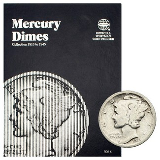 1916-1945 Mercury Dimes in Tri Fold Album
