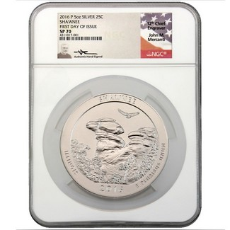 2016 P 5oz Shawnee National Forest Coin NGC SP70 FDI Mercanti Signed Label