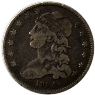 Capped Bust Quarter (1831-1838 Ty2) Very Good- Fine Condition