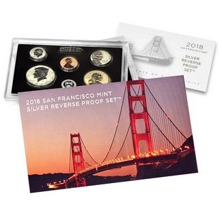 2018 50th Anniversary San Francisco Mint Silver Reverse Proof Set in OGP