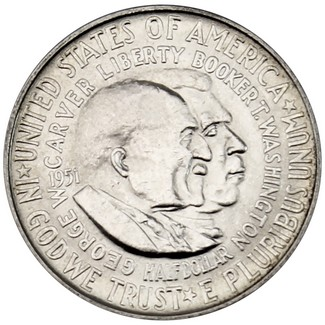 Washington-Carver BU Silver Commemorative Half Dollar