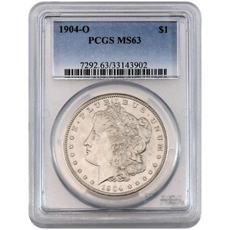 1904 O Morgan Dollar PCGS MS63