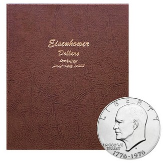 Complete Eisenhower Dollar Set in Dansco Album