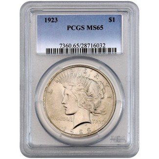 1923 Peace Dollar PCGS MS-65