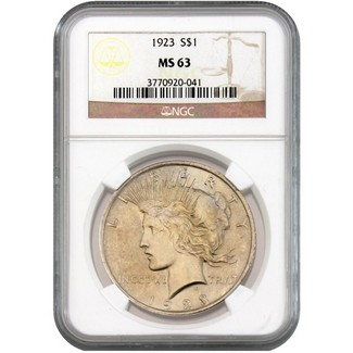 1923 Peace Dollar NGC MS-63