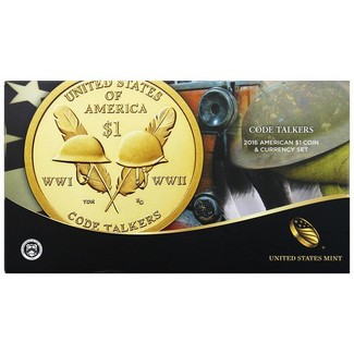 2016 American Code Talkers $1 Coin & Currency Set