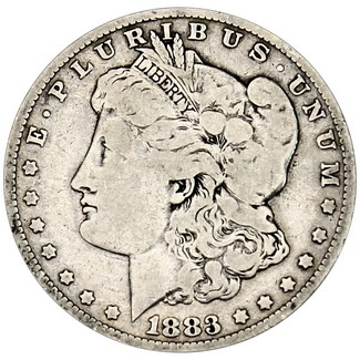 1883 O Morgan 90% Silver Dollar in XF/UNC condition