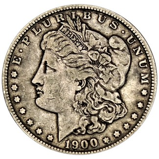 1900 P Morgan 90% Silver Dollar in VG/VF condition