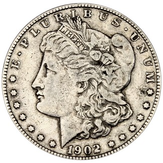 1902 O Morgan 90% Silver Dollar in XF/UNC condition