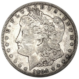 1904 O Morgan 90% Silver Dollar in VG/VF condition