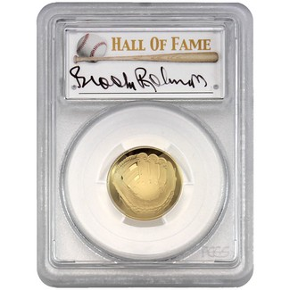 2014-W $5 Proof Gold 'Legends of Baseball' PCGS PR70 DCAM Brooks Robinson Signed