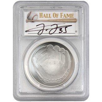 2014-P $1 UNC Silver 'Legends of Baseball' PCGS MS69 Frank Thomas Signed