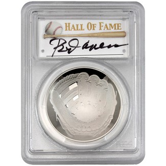 2014-P $1 Proof Silver 'Legends of Baseball' PCGS PR69 DCAM Rod Carew Signed