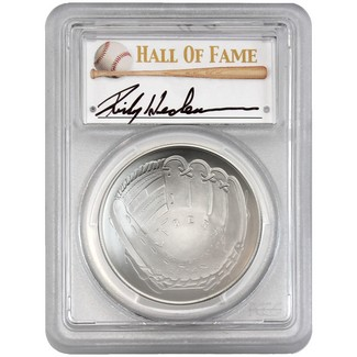 2014-P $1 UNC Silver 'Legends of Baseball' PCGS MS70 Rickey Henderson Signed