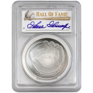 2014-P $1 UNC Silver 'Legends of Baseball' PCGS MS70 Goose Gossage Signed