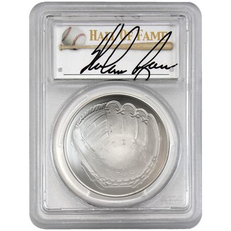 2014-P $1 UNC Silver 'Legends of Baseball' PCGS MS70 Nolan Ryan Signed