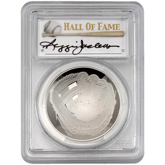 2014-P $1 Proof Silver 'Legends of Baseball' PCGS PR70 DCAM Reggie Jackson Signed