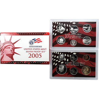 2005 Silver Proof Set 11 pc