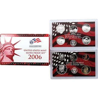 2006 Silver Proof Set 10 pc