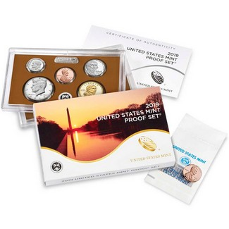2019 S Clad Proof Set in OGP (11 Coins)
