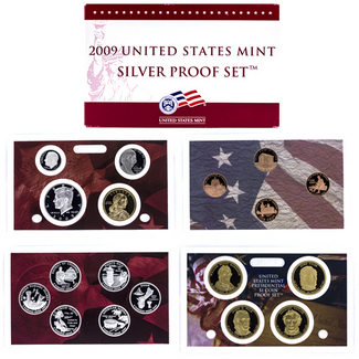 2009 Silver Proof Set in OGP (18 coins)