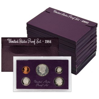 The Purple Proof Sets in Original Government Packaging
