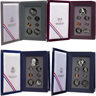 1991-1994 Prestige Proof Sets in OGP (4 sets)