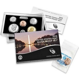 2019 S Silver Proof Set in OGP (11 Coins)