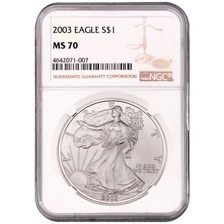 2003 Silver Eagle NGC MS70