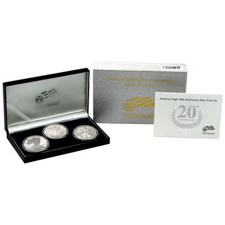2006 3 Piece Silver Eagle Anniversary Set OGP