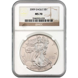 2009 Silver Eagle NGC MS70